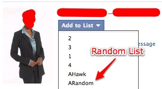 Facebook Random List
