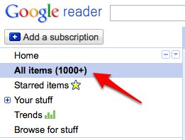 Google Reader All Items