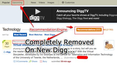 New Digg Recommendation Engine